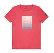 Dstrezzed T-shirt Golven Koraal Rood (202408 - 428)