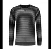 Dstrezzed Sweater Streep Navy (211242 - 669)