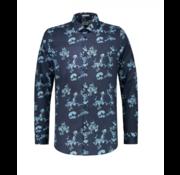 Dstrezzed Overhemd Slim Fit Print Navy (303208 - 649)
