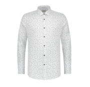 Dstrezzed Overhemd Slim Fit Print Wit (303214 - 100)