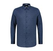Dstrezzed Overhemd Slim Fit Print Navy (303214 - 669)