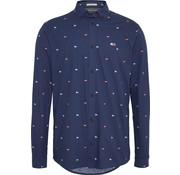 Tommy Hilfiger Overhemd Slim Fit Print Navy (DM0DM07130 - CBK)
