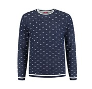 A Fish named Fred Pullover Navy Print (91.01.501)