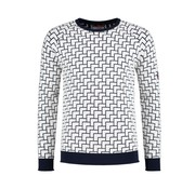 A Fish named Fred Pullover Navy/Wit Print (91.02.511)