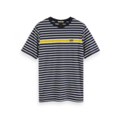 Scotch & Soda Crewneck T-shirt Strepen (152270 - 0217)