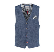 A Fish named Fred Gilet Navy Print (91.01.130)