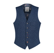 A Fish named Fred Gilet Print Navy (91.02.134)