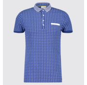 Blue Industry Polo Print XO Blauw (KBIS19 - M22)
