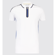 Blue Industry Polo met Rits Wit (KBIS19 - M30 - White)