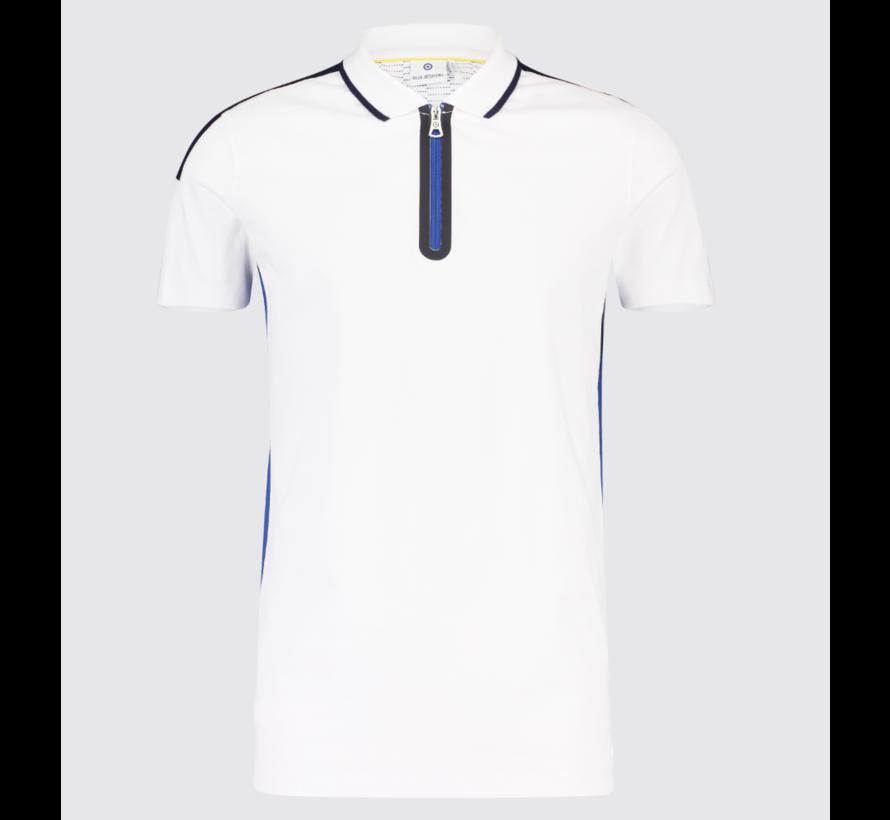 Polo met Rits Wit (KBIS19 - M30 - White)