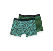 Scotch & Soda Boxershorts 2pack Print Groen (151335 - 0219)
