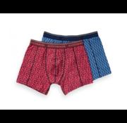 Scotch & Soda Boxershorts 2-Pack Print Blauw/Roze (148567 - 0217)