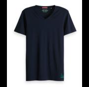 Scotch & Soda T-Shirt Effen V-Hals Navy (149006 - 0002)