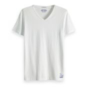 Scotch & Soda T-Shirt V-Hals Effen Wit (149006 - 0006)