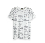 Scotch & Soda T-Shirt Wit Allover Print (149055 - 0217)