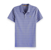 Scotch & Soda Polo Streep Paars/Geel (149077 - 0217)