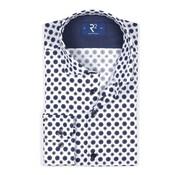 R2 Amsterdam Overhemd Print Blauw (106.WSP.030 - 014)