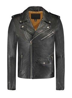 Goosecraft Leren Biker Jacket Jet Black (100002011 Biker602)
