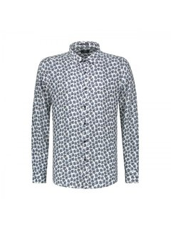 Dstrezzed Overhemd Regular Fit Print Blauw/Wit (303234 - 100)