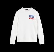 Scotch & Soda Sweater Ronde Hals Wit (152227 - 0006)