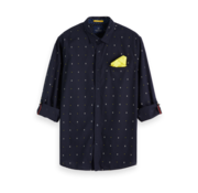 Scotch & Soda Overhemd Regular Fit Navy Print (152183 - 0217)