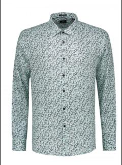 Dstrezzed Overhemd Print Bloemen Lagoon Green (303234 - 521)