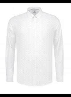 Dstrezzed Overhemd Print Vlinderstrik Wit (303244 - 100)