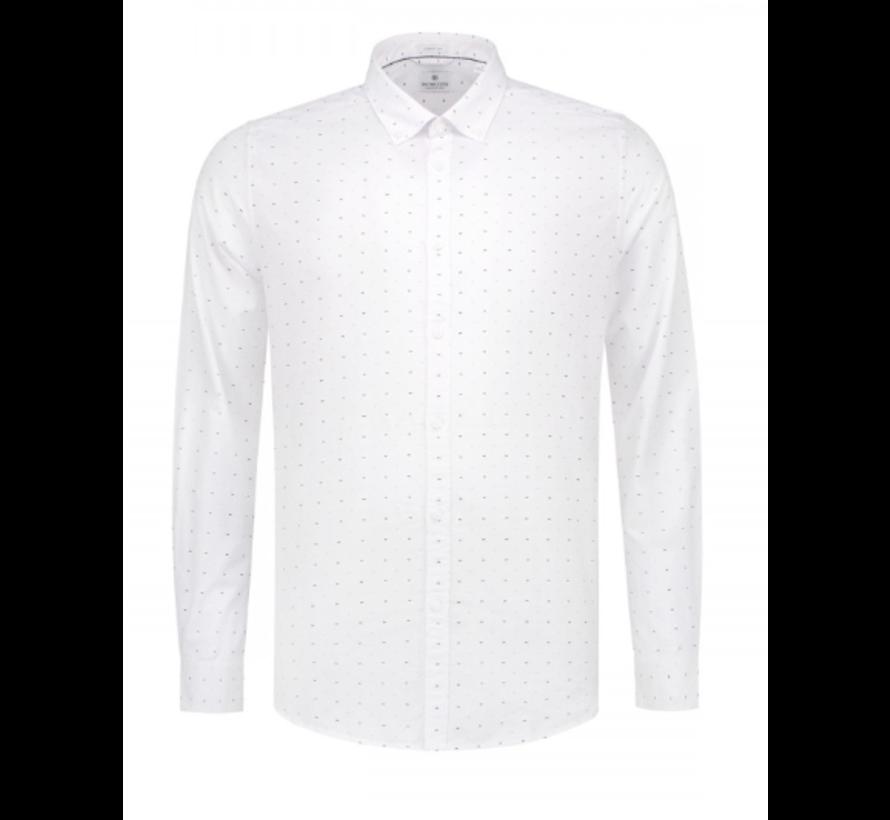 Overhemd Print Vlinderstrik Wit (303244 - 100)