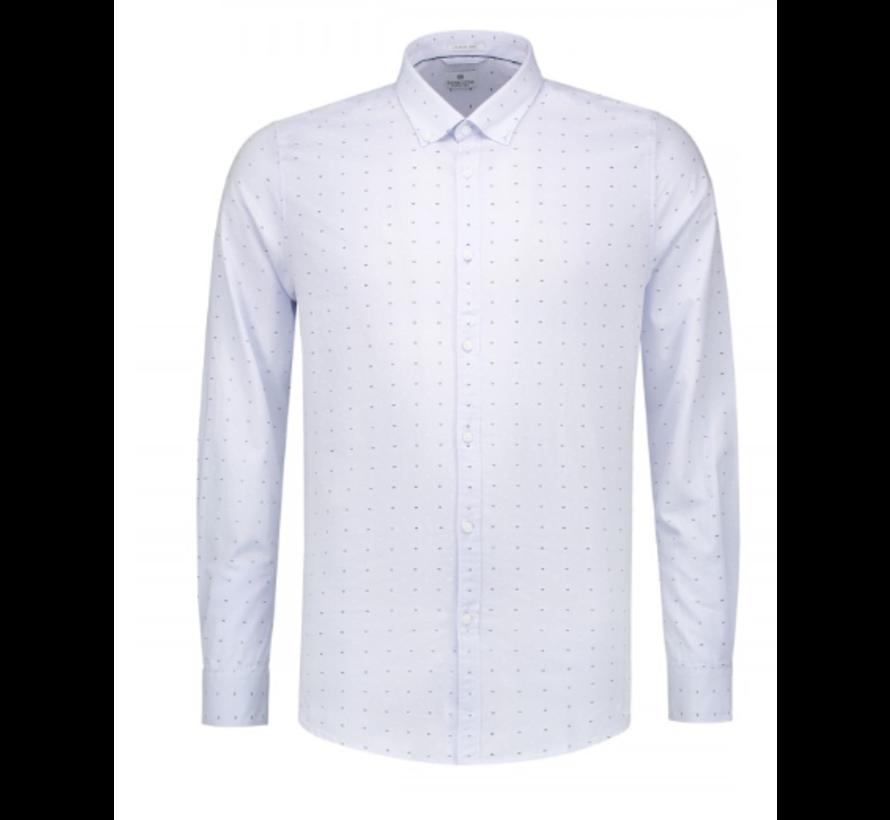Overhemd Print Vlinderstrikken Licht blauw (303244 - 646)