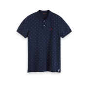 Scotch & Soda Polo Navy Blauw Print (152323 - 0218)