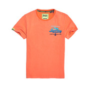 Superdry T-shirt Oranje Opdruk (M10102IT - C3Z)