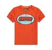 Superdry T-shirt Oranje Opdruk (M10102KT - A7R)