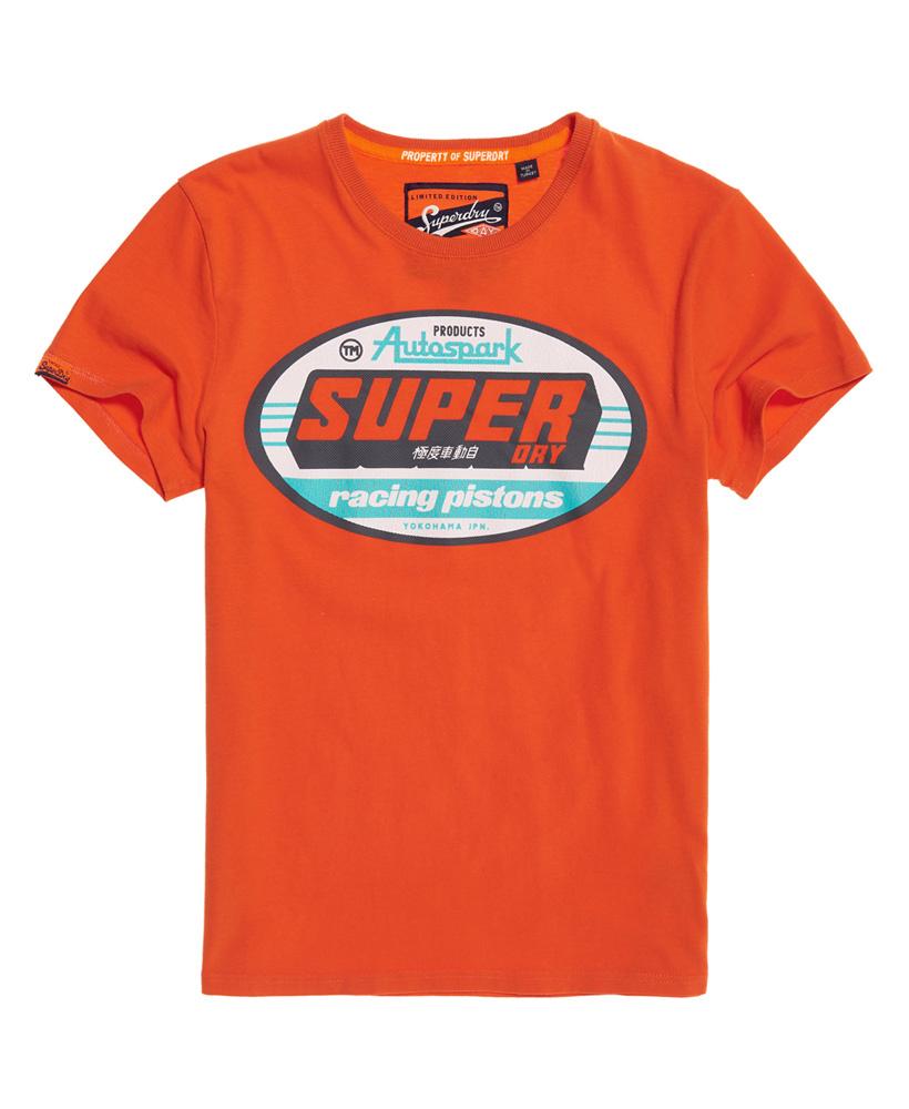 klassiek innovatief ontwerp Britse beschikbaarheid Superdry T-shirt Oranje Opdruk (M10102KT - A7R)