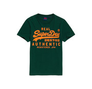 Superdry T-shirt Groen Opdruk Oranje (M1000056B - 10E)
