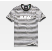 G-star T-Shirt Strepen Grijs/Groen Logo (D15246 - B583 - A667)