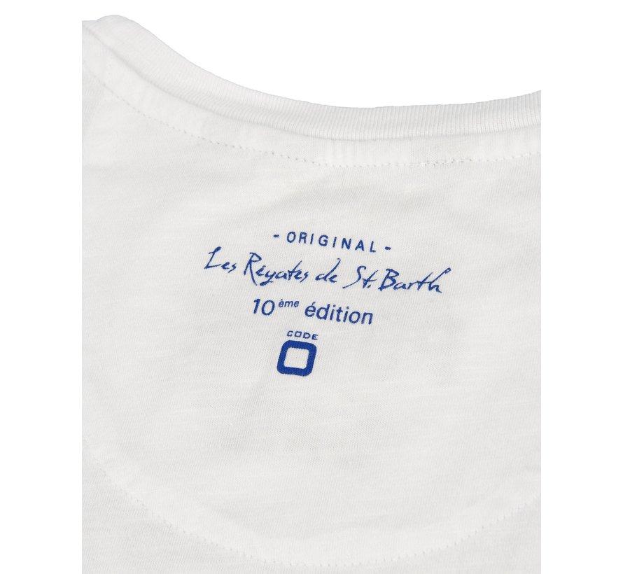 Voile Saint Barth T-shirt Wit (M602.01.895)