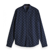 Scotch & Soda Overhemd Regular Fit Navy (152184 - 0587)