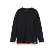 Scotch & Soda Reversible Pullover Navy Dropped Shoulder (152390 - 0218)