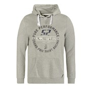 Code Zero Hooded Sweater Grijs Melange (M203.02.795)