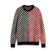 Scotch & Soda Sweater Print Zwart/Rood (154443 - 0219)