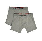 Code Zero Boxershorts 2-Pack Grijs (M90901171 - D15)
