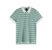Scotch & Soda Polo Korte Mouw Wit Met Streep (148822 - 0221)