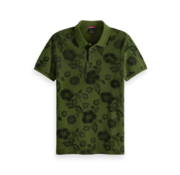 Scotch & Soda Polo Korte Mouw Groen Print (149083 - 0218)