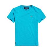Superdry T-shirt met Borstzakje Blauw (M10101MT - Z2N)