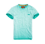 Superdry T-shirt Logo Gemeleerd Groen/Blauw (M10101RT - BAZ)