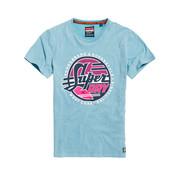 Superdry T-shirt Logo Lichtblauw (M10101ST - Z2A)