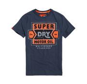 Superdry T-shirt Opdruk Logo Navy (M10102KT - BCY)