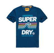 Superdry T-shirt Malibu Logo Blauw (M10150AT - UY9)