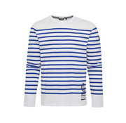 Gaastra T-shirt Lange Mouw Stripe Blauw/Wit (1357354182 - B090)