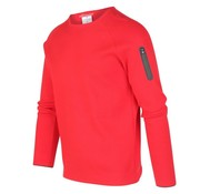 Blue Industry Trui Rood Met Rits (KBIW19 - M17 - Red)